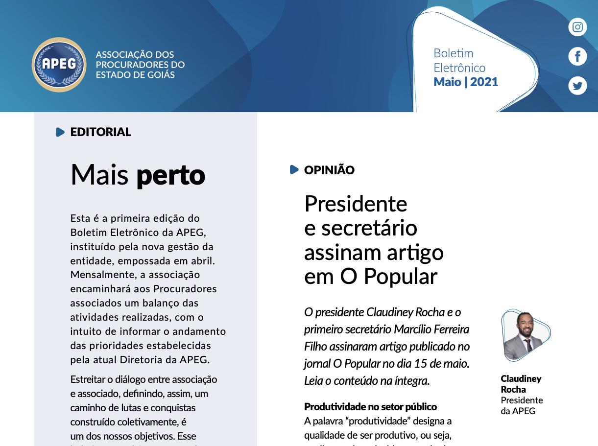 Boletim Eletrônico - Maio/2021